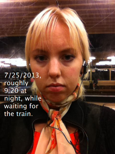 I was on my way home from a mediocre date.