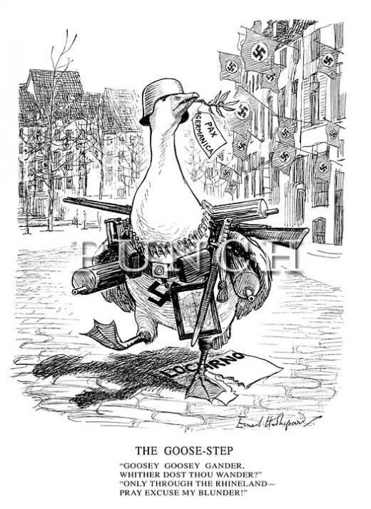 'The Goose Step' a cartoon of the time