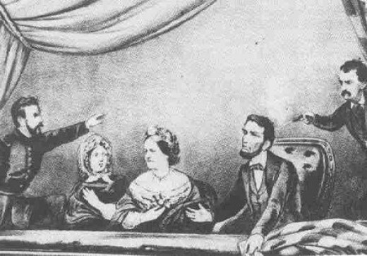 President Abraham Lincoln Was Shot At Fords Theater By John Wilkes Booth