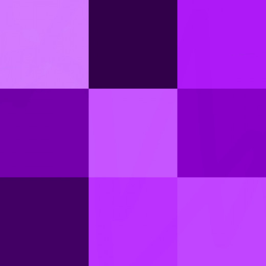 Purple is often associated with the color of royalty.