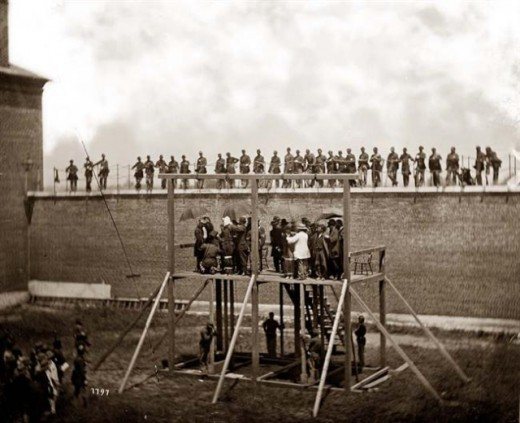 John Wilkes Booths Co Conspirators Are Hung For Their Part In The Assassanation