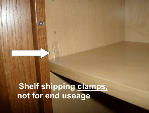 Shipping clamps, remove and replace