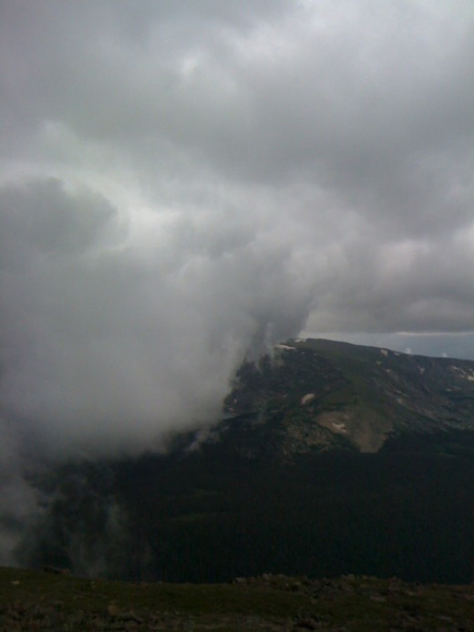 Sudden clouds on Trail Ridge Road