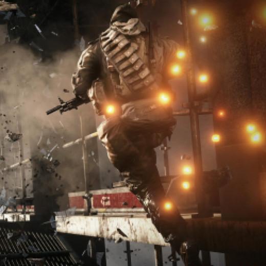 A screenshot from Dice's Battlefield 4.
