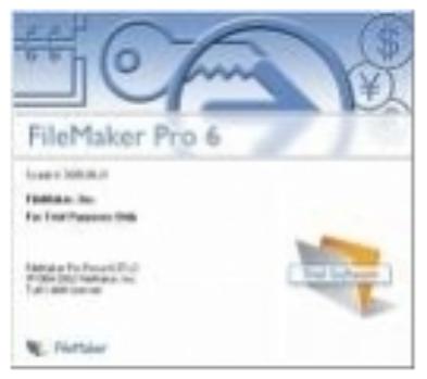 FileMaker,Pro 6, startup