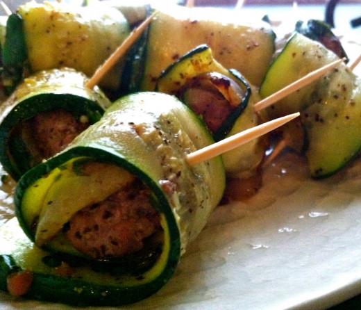 Zucchini Rolls with Beef - Healthy Pigs in a Blanket