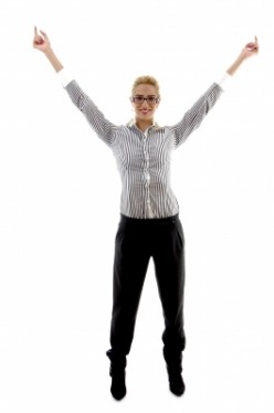 Your employees will jump for joy when you manage change correctly. (Courtesy of Imagerymajestic)