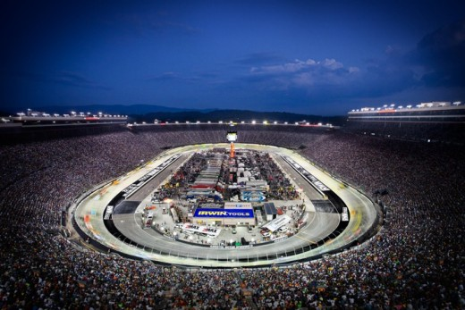 Bristol Motor Speedway, at night