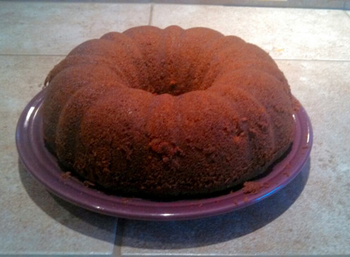 Bundt Cake Recipe before glazing