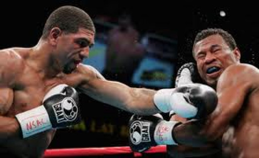 Ronald Winky Wright, seen here cracking Sugar Shane Mosley with a left, fought and beat him twice.