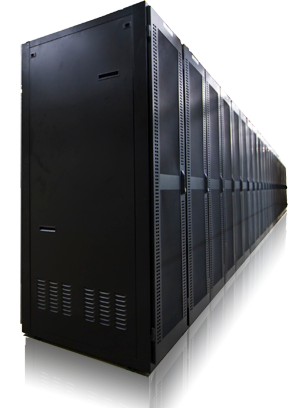 A typical datacenter can contain thousands of servers as well as networking equipment and storage arrays.