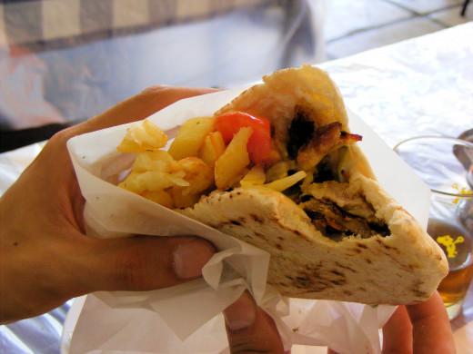 Local food in Thessaloniki, Greece