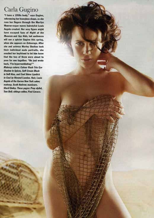 Hot Carla Gugino from Allure Magazine