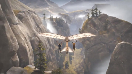 Occasionally, the brothers commandeer a vehicle. This makeshift plane being one of the game's best segments.