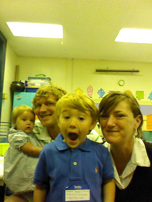 School Readiness. Cameron was more than ready for pre-K! I'm not sure his teacher was ready for him, however.