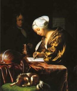 painting by Dutch artist Frans van Mieris, 1680.