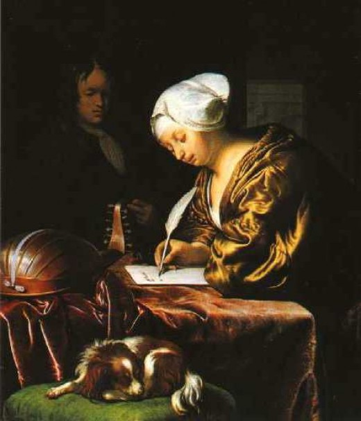 painting by Dutch artist Frans van Mieris, 1680.