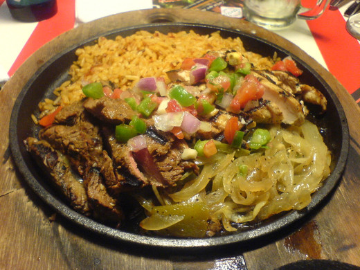 Fajitas filling and all the fixin's--in your trusty cast-iron skillet