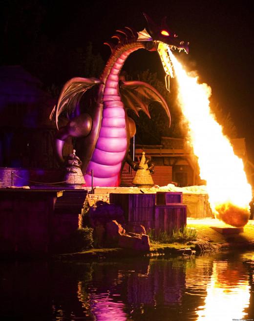 "Maleficent dragon during ""Fantasmic!"""
