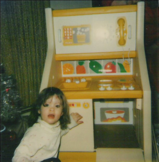 Even when I was tiny, I was still expect to work. Fake eggs don't cook themselves...