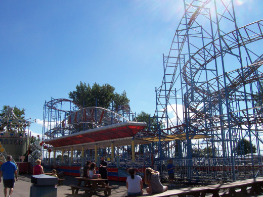 The Galaxi roller coaster at Sylvan Beach Amusement Park was purchased from Fun Forest in Washington state.