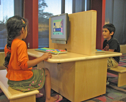Using a computer in public areas is safer for children