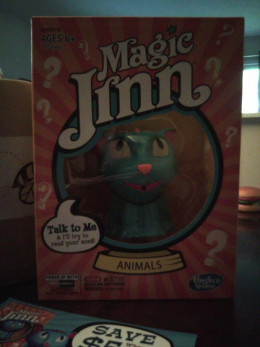 Magic Jinn, by Hasbro Games.  A cute little cat type creature.