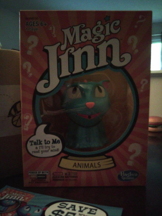 Magic Jinn, by Hasbro Games.  A cute little cat type creature.