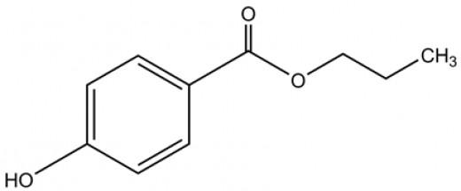 2-D structure of Propylparaben