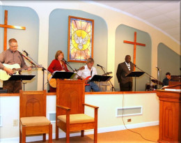 The Praise Band on Sunday morning.