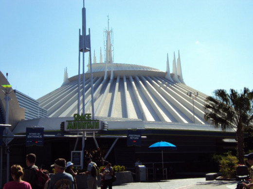 """Space Mountain"" located in Tomorrowland"