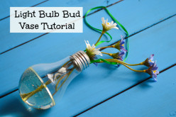 How to Make a Recycled Lightbulb/Light Bulb Flower Vase Tutorial