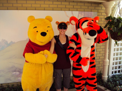 I finally got my turn!  And I embarrassed Tigger right away.