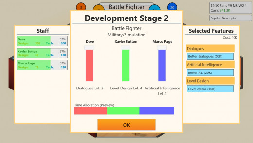 With a good team behind me, development of the first game in the 'Battle Fighter' franchise went well. This was followed up by the sequels, 'Battle Fighter 2' and 'Battle Fighter: Fighter of Battles'.