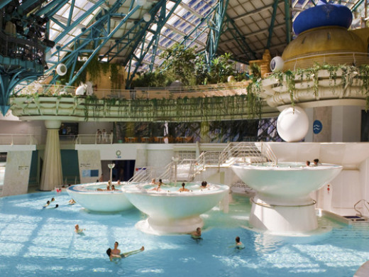 An overview of the the Caldea Thermal Spa, Andorra la Vella, Andorra which is one of the best travel destinations in Europe.