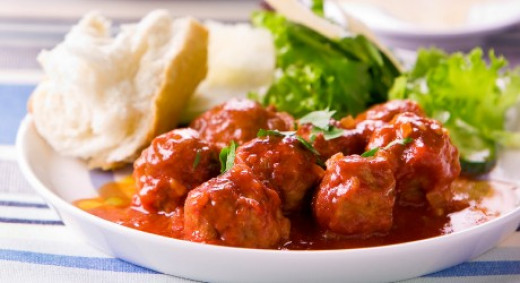 Spanish meatballs are the perfect accompaniment to a glass of red wine - or two!
