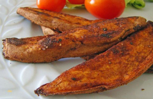 grill sweet potatoes