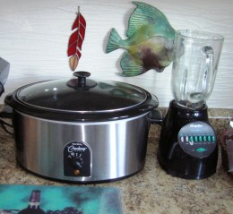 two essential cooking tools, blender and slow cooker, Bob Ewing Photo