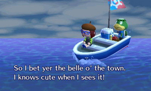 Kapp'n sings and talks to you as you're sailing away.