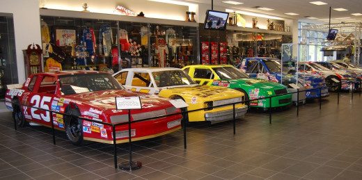 The Hendrick Motorsports garage lets visitors see the team's past and future all in one stop