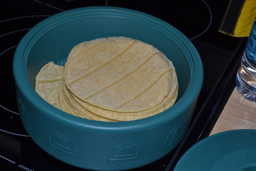 Heat your corn tortillas.