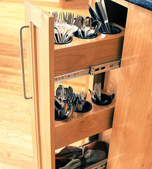 drawers for forks , spons