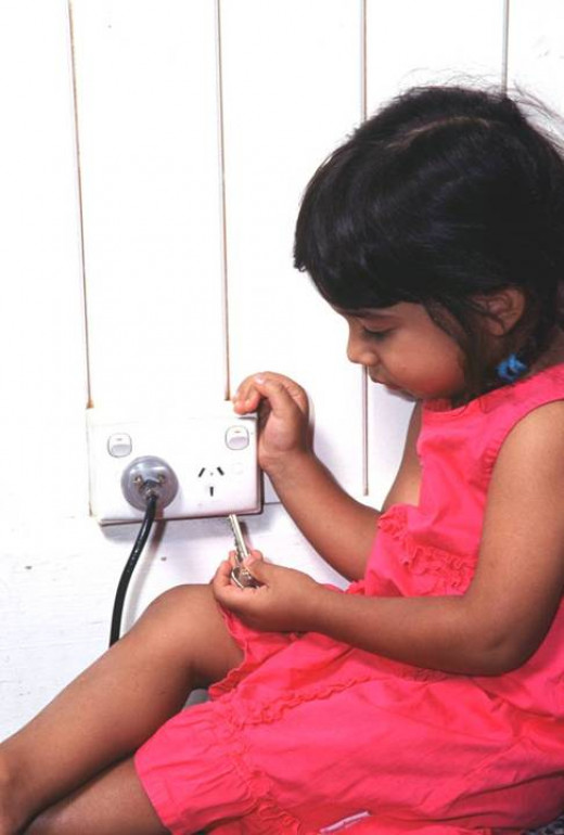 Do not allow children to play with electrical cables or sockets