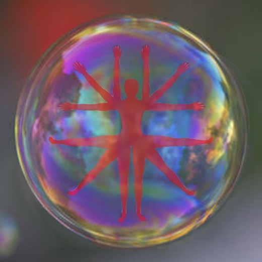 Rather like a protective bubble all around you,  the aura can reach far beyond the physical limits of the body itself.