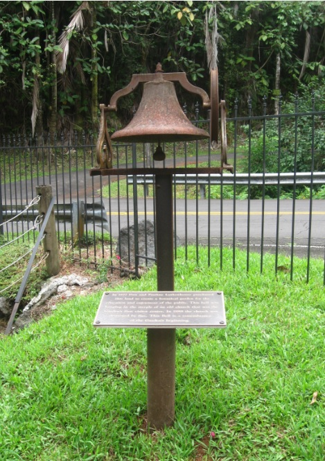 Bell from Old Church the once stood where Hawaii Tropical Botanical Garden is now located