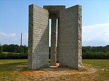 Georgia Guidestones, Wikimedia Commons, own work