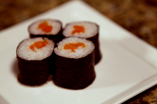 Sushi with salmon contains Omega-3 which fights inflammation and reduce stress.