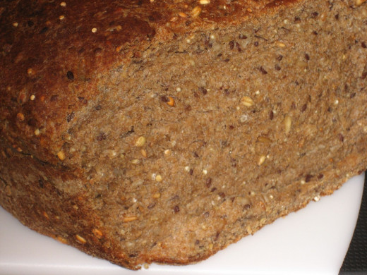 Whole grain bread - The carbs makes you fuller and happier.