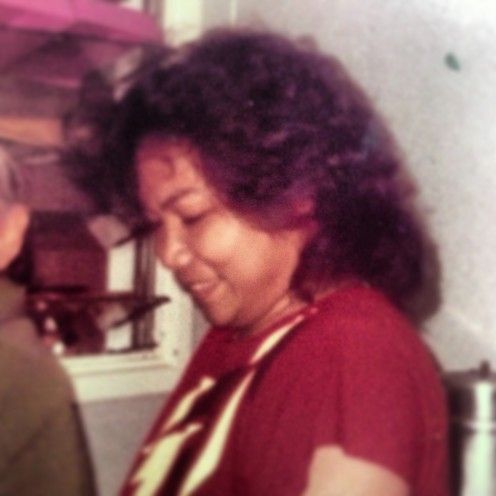 Author's mother: the late Myrla Presto