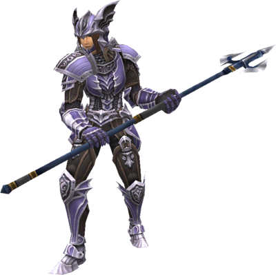 A Dragoon from Final Fantasy XI with the Gungnir relic polearm